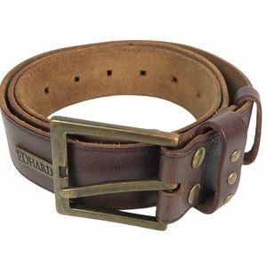 Ed Hardy Leather & Brass Tone Belt Medium